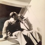 Paul and Nalletta Giammatteo on steps kissing Father's Day memories