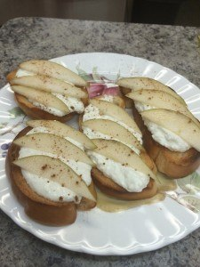 food served in heaven homemade ricotta with pears and cinnamon