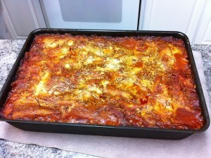 Mikki's famous lasagna, another food served in heaven